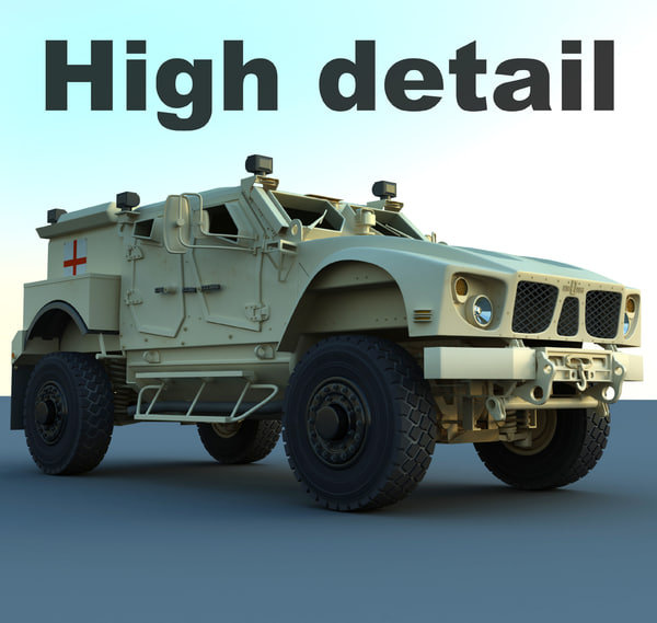 3d m-atv military ambulance model - M-atv ambulance... by RippleDesign