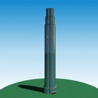 realistic skyscraper 3d model