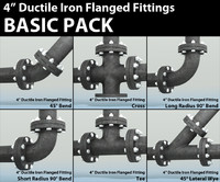 Pipes Pack 4in Ductile Iron Flanged Fittings Basic