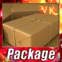 Realistic Cardboard Box - Package and High Resolution Textures