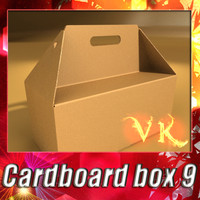 3d model photorealistic cardboard box resolution