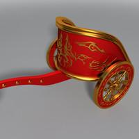 3d roman war chariot model