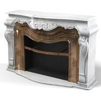 3d marble fireplace modern model