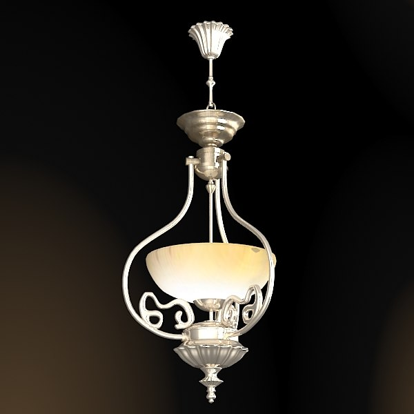 classic one bulb  chandelier glass white shade ceiling lamp light