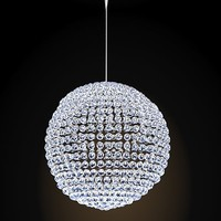crystal sphere ceiling chandelier lamp hanging pendant swarowski glass modern contemporary ball