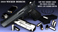 Low poly desert eagle