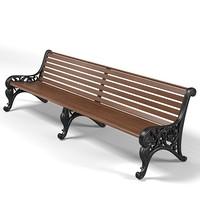3dsmax garden park bench