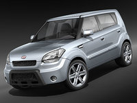 kia soul city car 3d 3ds