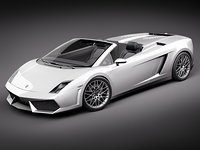 3d lamborghini gallardo lp560-4 spyder model