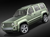 3d jeep patriot liberty suv