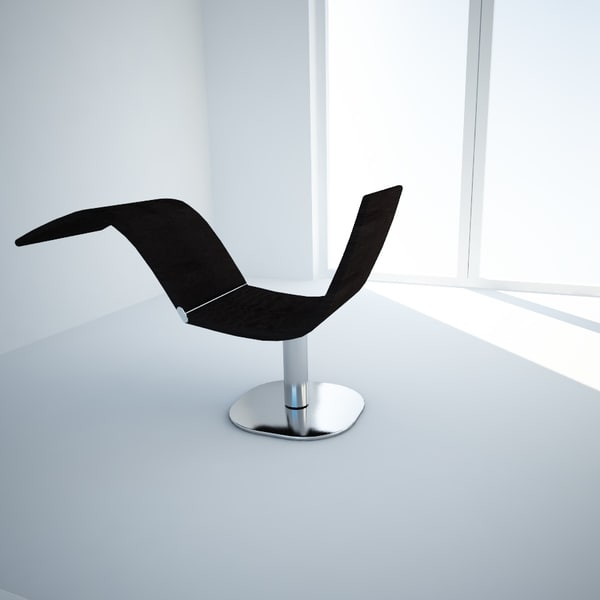 chair chaise dragonfly bonaldo 3d model - Chair-Chaise longue Dragonfly by Bonaldo, design Karim Ras... by CXambo