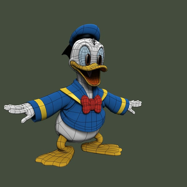 3d donald duck - donald duck(1)... by jas.sur