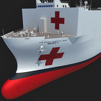 usns mercy t-ah-19 ship 3d obj