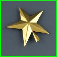 3d model xmastreetop star xmas