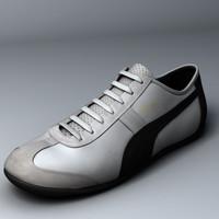 3d realistic puma sneaker model