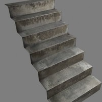 rustic steps 3d model