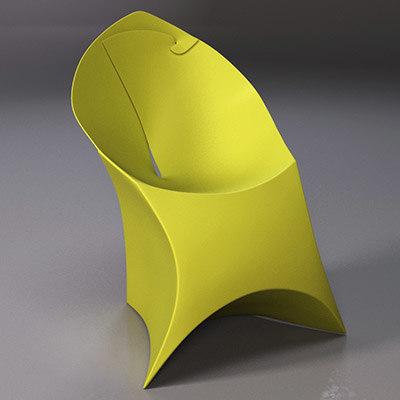 flux foldable chair 3d max
