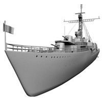 ww2 destroyer 3d model