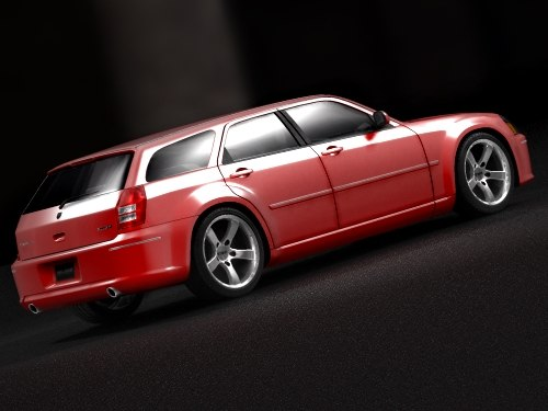 dodge magnum srt8 2004 3d model - dodge magnum srt8 2004... by squir