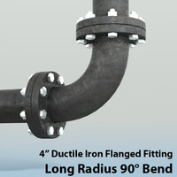 Pipes 4in Long Radius 90 Degree Bend