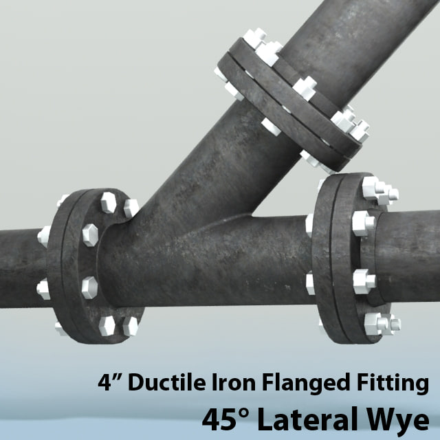 D obj in lateral wye piping
