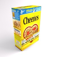 3d cereal box