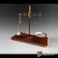 german waage weighing scale 3d model