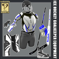 ice hockey equipment - 3d model