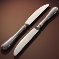 3d model of knife silverware