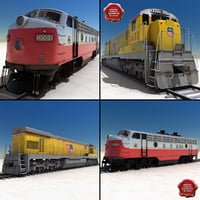 locomotives union pacific 3d model