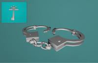 3ds max handcuffs hand cuffs
