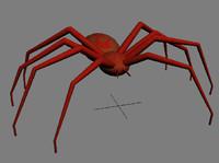 3dsmax spider red