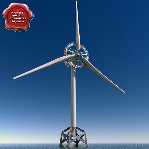 3d model sway wind turbine