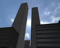 3d twin towers world trade model