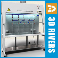 3d model chemistry lab cabinet biosafety