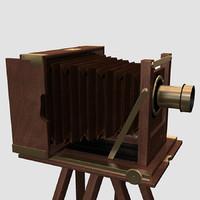 antique kinnear camera 3d 3ds