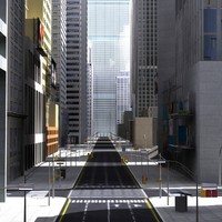 High Definition 3D City Street