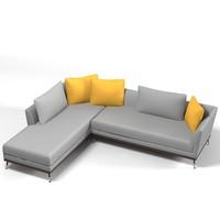 3d corner sofa modern model