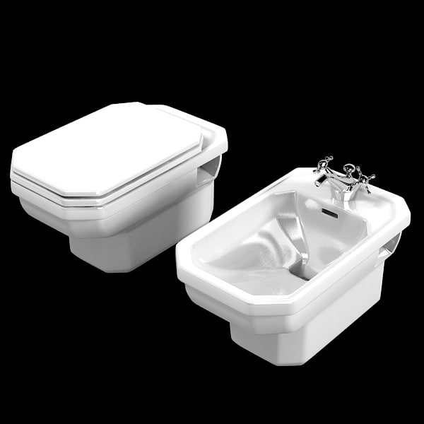 Duravit 1930 toilet 3ds - Deco moderne wc ...