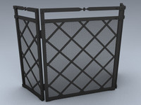 3d model fireplace screen
