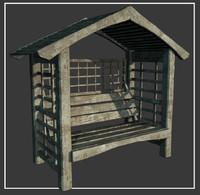 3d max garden seat 2