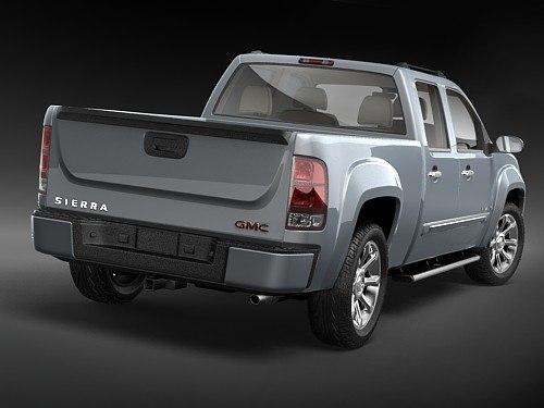 gmc sierra denali pickup 3d model. Black Bedroom Furniture Sets. Home Design Ideas