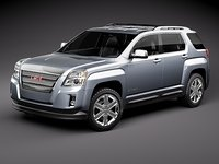 3d model gmc terrain suv