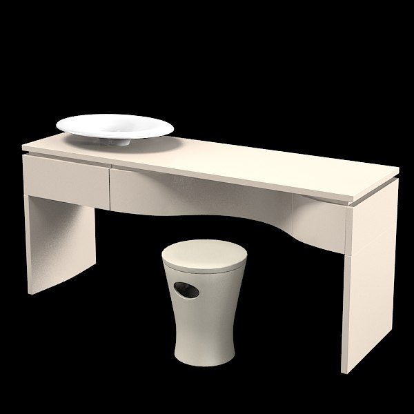 kohler k-2438 vanity luxury bathroom furniture sink pouf seat wash ...