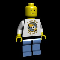 3d model of lego man