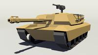 obj m1 abrams tank