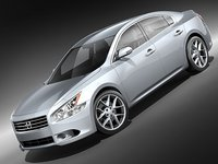 nissan maxima 2009 luxury 3d model