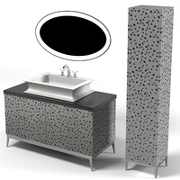 oasis modern contermporary art deco bathroom furniture lavatory skin fucet mirror