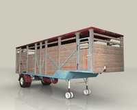 old trailer cattle c4d