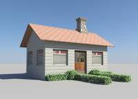 3d little house model